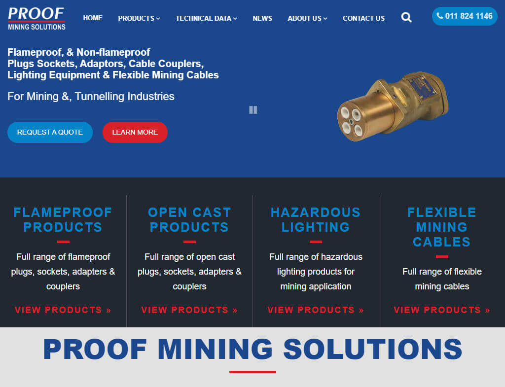 web design engineering company, web design industrial, web design mining industry
